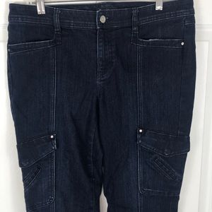 White House Black Market Dark Blue Jeans Cargo